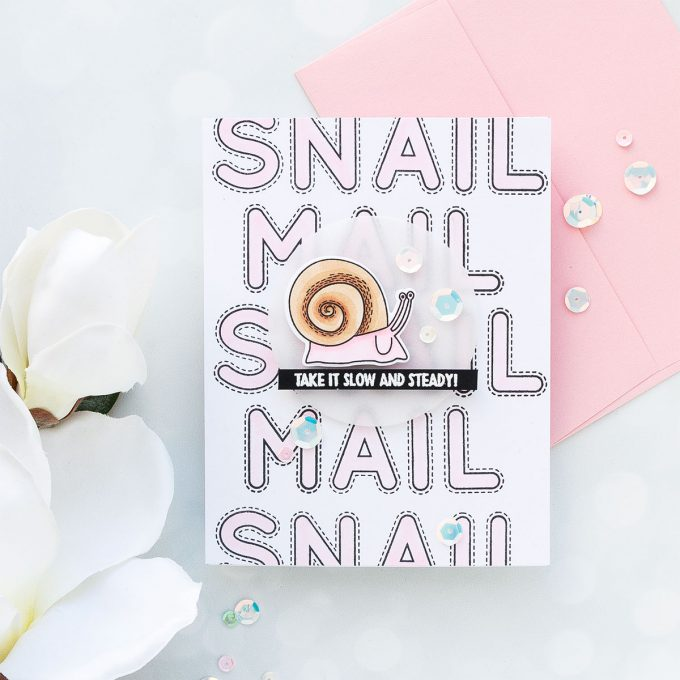 Simon Says Stamp | Snail Mail Card by Yana Smakula using Under The Sea Animals set #stamping #sssflutteringby #simonsaysstamp #cardmaking #handmadecard