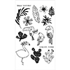 Flora and Fauna Tropical Vibes Clear Stamps 20178