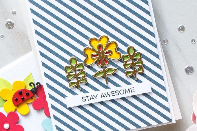 Spellbinders | Clean & Simple Flower Cards with Inlay Die Cutting by Yana Smakula #cardmaking #diecutting #handmadecard #neverstopmaking