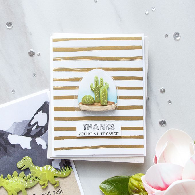 Spellbinders | You're A Lifesaver Card with Build A Terrarium Dies