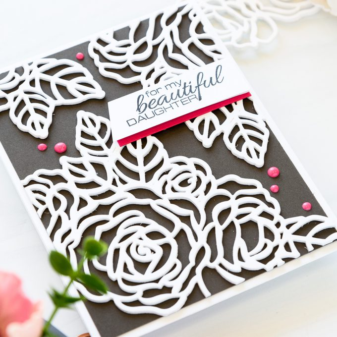 Spellbinders | Shaped Cupcake Card & Pretty Florals Card. Small & Large Dies Of The Month - June. Projects by Yana Smakula #spellbinders #shapedcard #cardmaking #neverstopmaking #diecutting #handmadecard