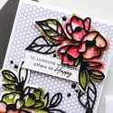 Spellbinders   Good Vibes Only Cards. Simple Die-Cutting Techniques. Handmade card by Yana Smakula #spellbinders #diecutting #handmadecard #neverstopmaking #copiccoloring #adultcoloring S3-324 Shapeabilities Lovely Lilac Etched Dies Good Vibes Only Collection by Stephanie Low