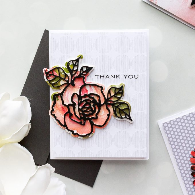 Spellbinders   Good Vibes Only Cards. Simple Die-Cutting Techniques. Handmade card by Yana Smakula #spellbinders #diecutting #handmadecard #neverstopmaking #copiccoloring #adultcoloring S4-873 Shapeabilities Rosy Summer Flowers Etched Dies Good Vibes Only Collection by Stephanie Low