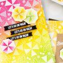 Hero Arts June 2018 MY Monthly Hero Kit #mymonthlyhero Add On Cards. Beach Umbrellas Let's Go on Vacay card by Yana Smakula. Ink blended summer background card. #stamping #heroarts #cardmaking #summercard #beachcard #yanasmakula