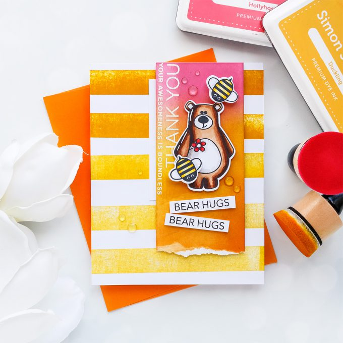 Simon Says Stamp | Thank You - Bear Hugs Card by Yana Smakula