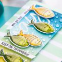 Simon Says Stamp | Keep On Swimming Card by Yana Smakula #simonsaysstamp #cardmaking #stamping #copiccoloring #fishcard