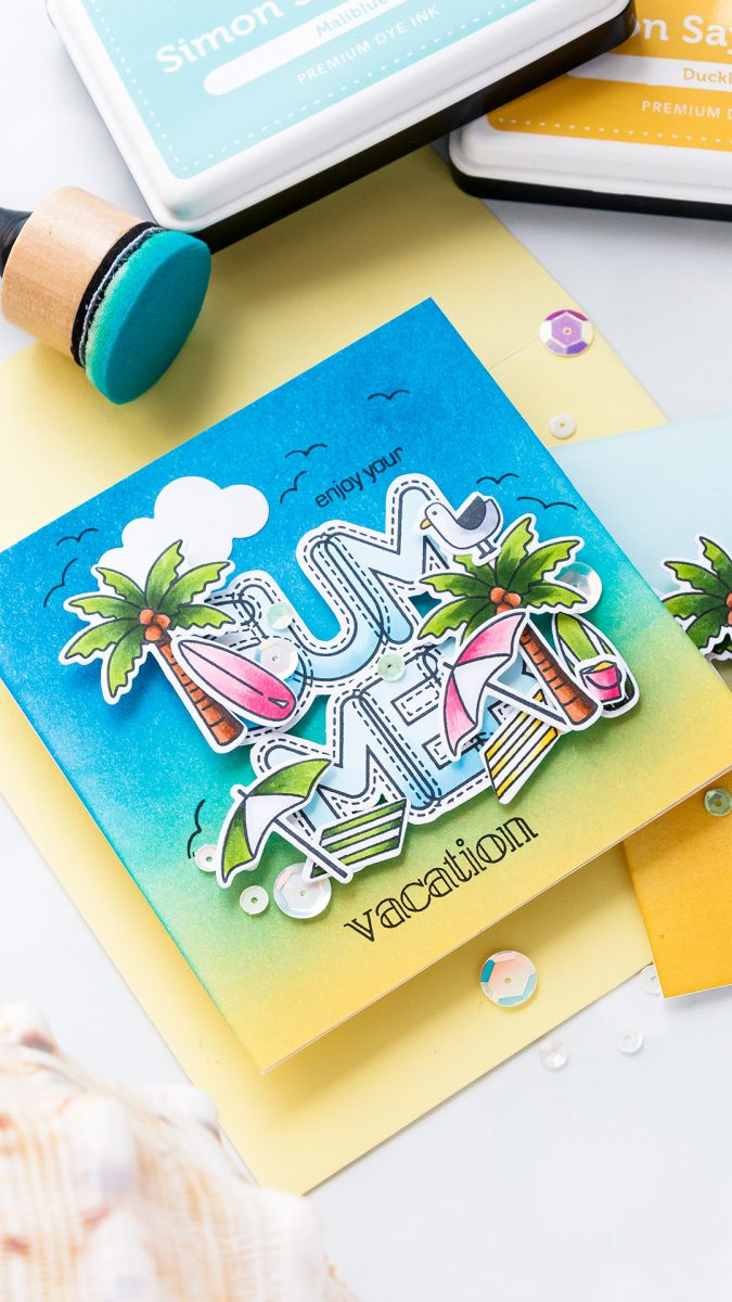 Simon Says Stamp | Soak Up Some Summer! Yippee For Yana Series. Video Handmade card by Yana Smakula #stamping #diecutting #cardmaking #handmadecard #simonsaysstamp #copicoloring #inkblendingSimon Says Stamp | Soak Up Some Summer! Yippee For Yana Series. Video Handmade card by Yana Smakula #stamping #diecutting #cardmaking #handmadecard #simonsaysstamp #copicoloring #inkblending