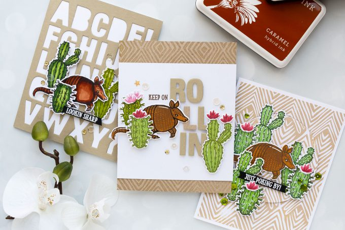 Hero Arts | Color Layering With Yana Series – Color Layering Armadillo Cards