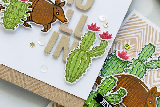 Hero Arts   Color Layering With Yana Series – Color Layering Armadillo Cards