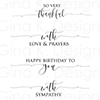 Gina K Designs Scripty Sayings Clear Stamps