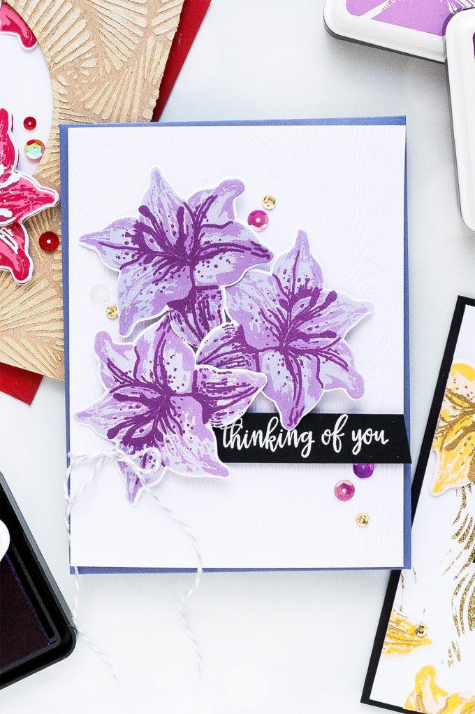Hero Arts | Color Layering With Yana Series – Color Layering Tiger Lilly CardsHero Arts | Color Layering With Yana Series – Color Layering Tiger Lilly Cards