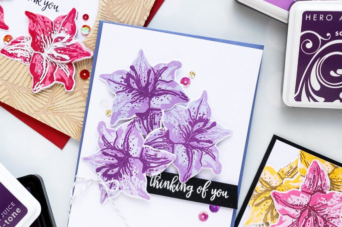 Hero Arts | Color Layering With Yana Series – Color Layering Tiger Lilly Cards