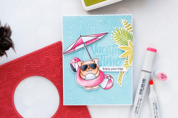 Simon Says Stamp | Vacation Time Summer Card. Photo Tutorial by Yana Smakula #stamping #simonsaysstamp #cardmaking