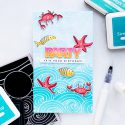 Simon Says Stamp | Extending Background Stamps for Tall Cards. Yippee For Yana Series. Video. Party It's Your Birthday card by Yana Smakula using Beachy Waves, Under The Sea Animals and Birthday Palooza stamps from Simon Says Stamp #stamping #cardmaking #birthdaycard