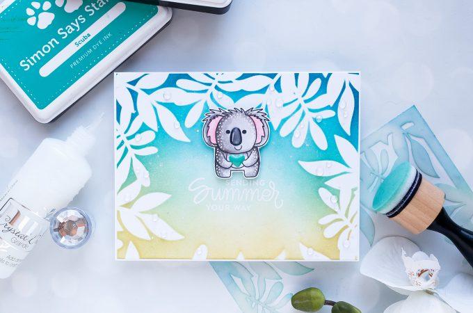 Simon Says Stamp | Sending Summer Your Way Card. Photo Tutorial by Yana Smakula #simonsaysstamp #stamping #handmadecard #cardmaking