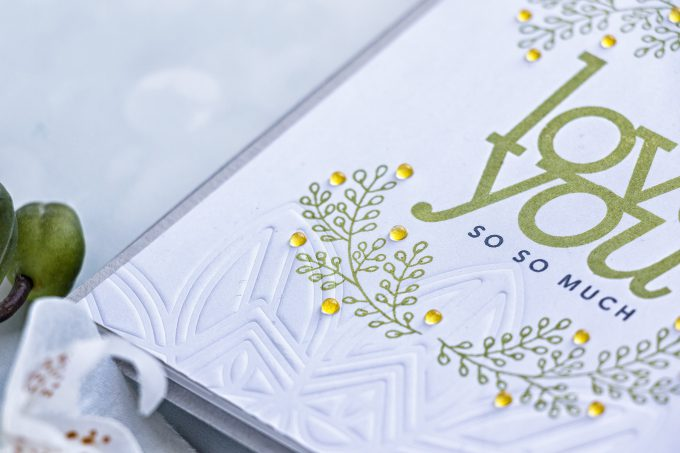 Simon Says Stamp | Subtle Dry Embossed Details with a Stencil. Photo Tutorial by Yana Smakula #simonsaysstamp #cardmaking #dryembossing