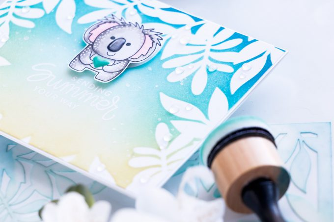 Simon Says Stamp | Sending Summer Your Way Card. Photo Tutorial by Yana Smakula #simonsaysstamp #stamping #handmadecard #cardmaking