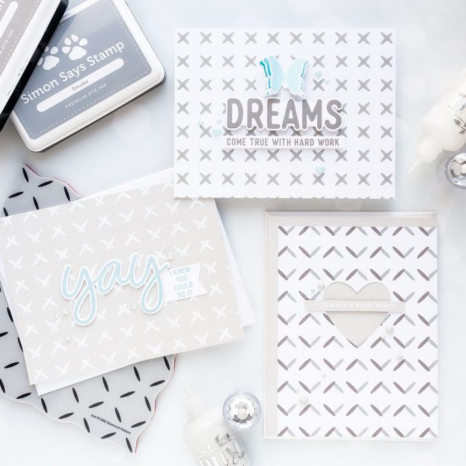 Simon Says Stamp   Monochrome Diamond Pattern Cards by Yana Smakula #simonsaysstamp #sssfriendlyfrolic #stamping #cardmaking