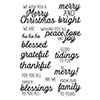 Hero Arts Clear Stamps Winter Holiday Messages