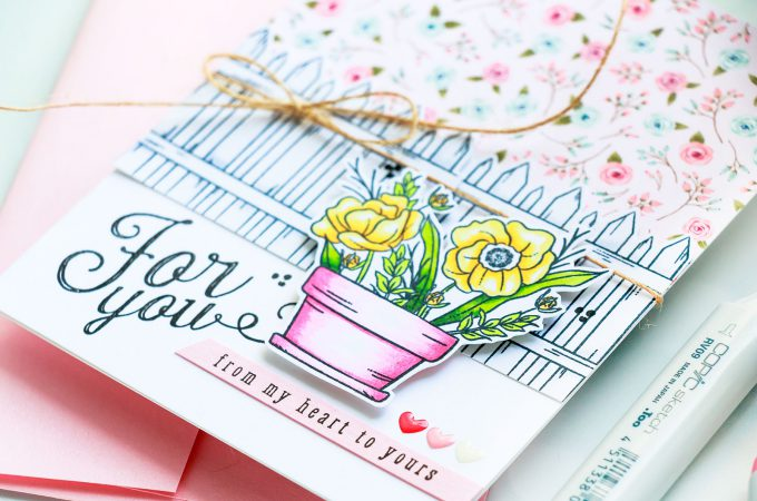 Simon Says Stamp | August Card Kit - Mandy's Flowers Take Three - For You Card by Yana Smakula #sss #sssck #simonsaysstamp #stamping #cardmaking #handmadecard