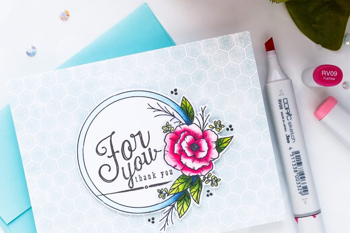 Simon Says Stamp | August Card Kit - Mandy's Flowers Take One- For You Card by Yana Smakula #sss #sssck #simonsaysstamp #stamping #cardmaking #handmadecard
