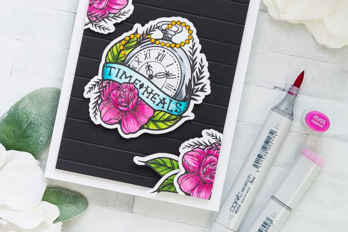 Spellbinders | Time Heals Sympathy/Encouragement Card with Stephanie Low's Inked Messages #spellbinders #stamping #inkedmessages #cardmaking #copiccoloring #sympathycard