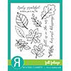 Reverse Confetti Fall Foliage Stamps