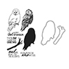 Hero Arts Color Laying Owl Clear Stamp and Die Bundle