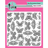 Pink and Main Butterfly Background Clear Stamp