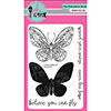 Pink and Main You Can Fly Clear Stamps