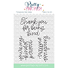 Pretty Pink Posh Simple Sayings Kind Clear Stamps