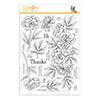 Simon Says Clear Stamps Beautiful Flowers 2
