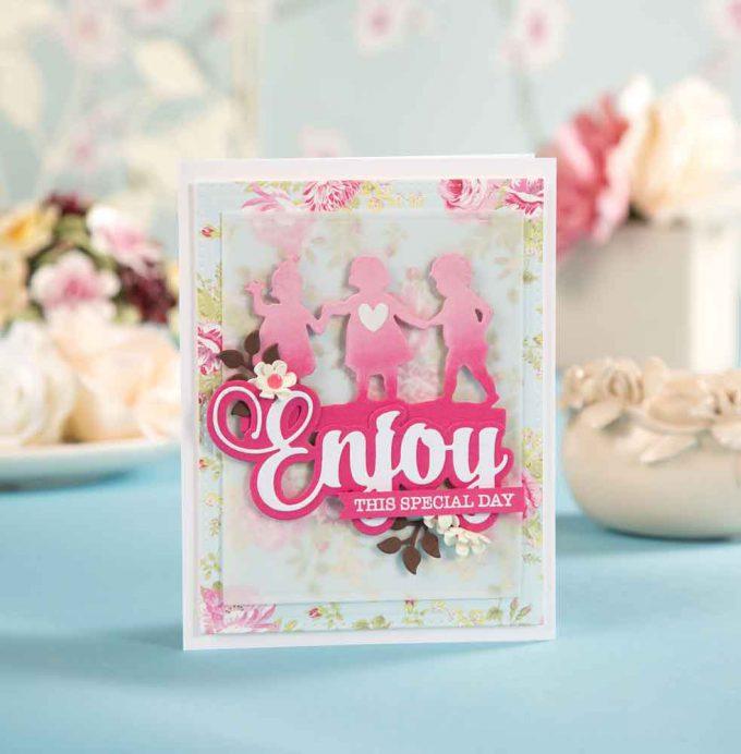 Spellbinders | Easy Silhouette Card Ideas with Yana Smakula as seen in Die-cutting Essentials Magazine #41 #spellbinders #diecutting #yscardmaking #handmadecard #silhouettecard #diycard