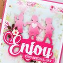 Spellbinders | Easy Silhouette Card Ideas - Enjoy This Special Day Card by Yana Smakula #yscardmaking #spellbinders #handmadecard #diecutting #neverstopmaking #diycard