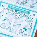 Spellbinders | Easy Silhouette Card Ideas - We're Lucky To Have Each Other Card by Yana Smakula #yscardmaking #spellbinders #handmadecard #diecutting #neverstopmaking #diycard