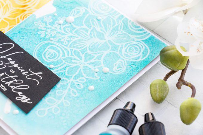 Simon Says Stamp | October 2018 Card Kit - Alcohol Ink Lift Card by Yana Smakula #yscardmaking #sssck #simonsaysstamp #alocholinklift