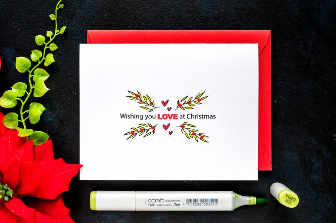 STAMPtember | Simplicity is Everything. One Layer Minimalistic Christmas Cards with Simon Says Stamp #yscardmaking #stamping #stamptember #simonsaysstamp #christmascard