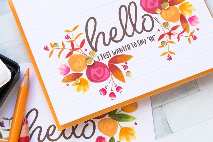 STAMPtember | WPlus9 - One Layer Fall Layered Floral Card by Yana Smakula. Video tutorial #cardmaking #yscardmaking #stamptember #wplus9 #onelayercard