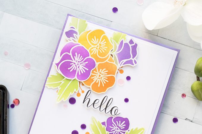 STAMPtember | Pretty Pink Posh - Fall Pansies. Video