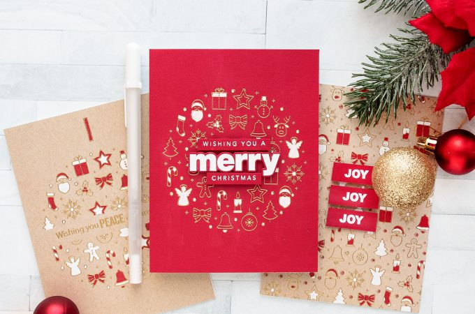 Simon Says Stamp   Christmas Coloring with a Single Pen (or Pencil). Video tutorial by Yana Smakula featuring CENTER CUT HOLIDAY ICONS sss101885 #yscardmaking #stamping #simonsaysstamp #christmascards
