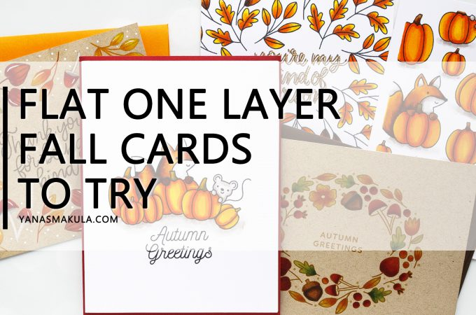 One Layer Stamping - Fall Cards 5 Ways with Pretty Pink Posh Pumpkin Patch Critters, Simple Sayings: Kind and Autumn Wreath stamp sets #yscardmaking #stamping #prettypinkposh #onelayercard #fallcard #autumncard
