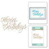 Faux Happy Holidays Glimmer Hot Foil Plate