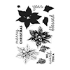 Hero Arts Clear Stamps Color Layering Poinsettia