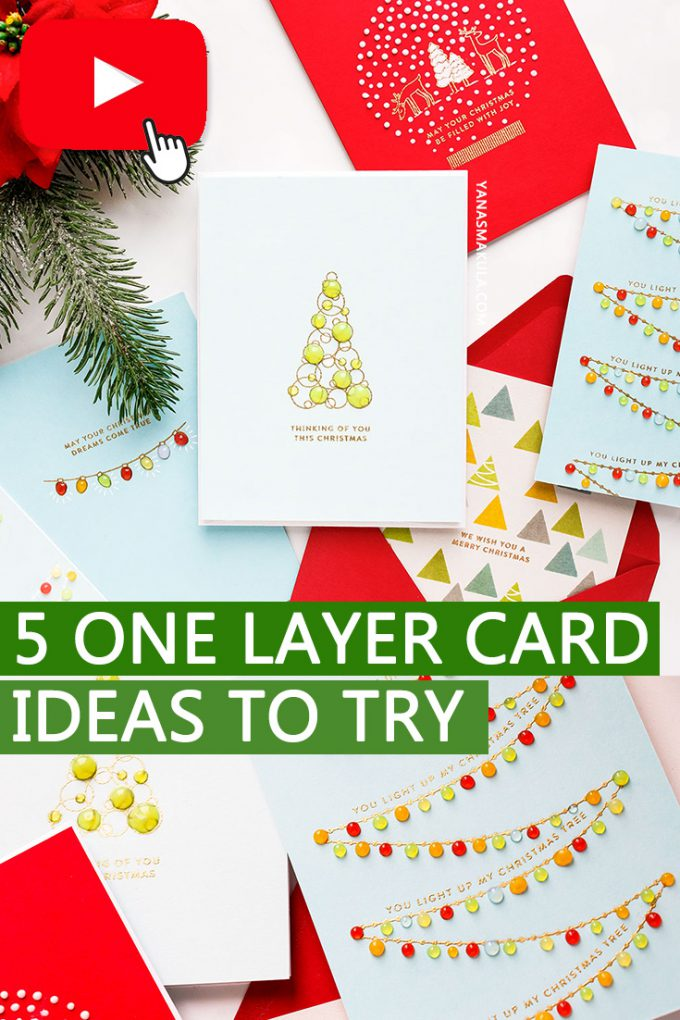 Simon Says Stamp | 5 One Layer Christmas Card Ideas to Try. Yippee For Yana Series. Video