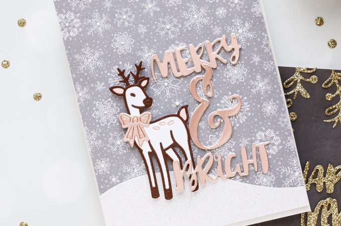 Merry & Brights Christmas Deer Card by Yana Smakula using Spellbinders 2018 November Small Die of the Month #cardmaking #christmascard