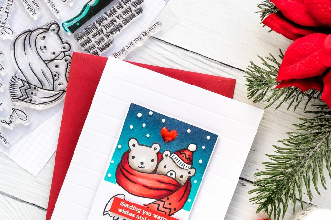 Pinkfresh Studio | More Simple Cardmaking. Winter Hugs Card. Video