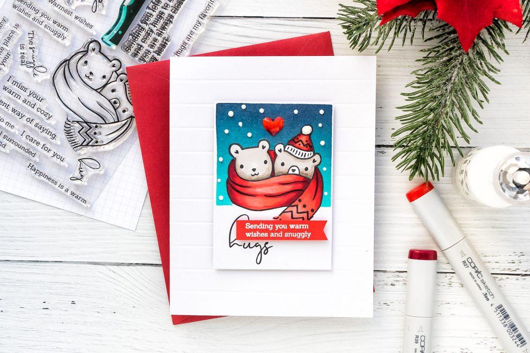 Pinkfresh Studio | More Simple Cardmaking. Winter Hugs Card. Video