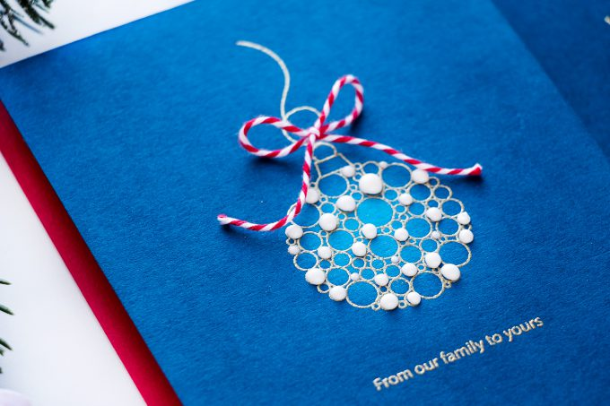World Cardmaking Day Celebration with Simon Says Stamp! From Our Home to Yours Handmade Cards using Simon Says Clear Stamps ORNATE ORNAMENTS sss101878 clear stamps. Ornaments colored with Nuvo Drops #yscardmaking #stampng #christmascard #cardmaking #simonsaysstamp