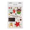 Deer Santa Holiday & Sentiment Stickers