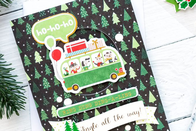 """Jingle All The Way Handmade Holiday Card created using Spellbinders """"Deer"""" Santa Card Kit Extras! Visit my blog for quick video tutorial to learn how to make these cards."""